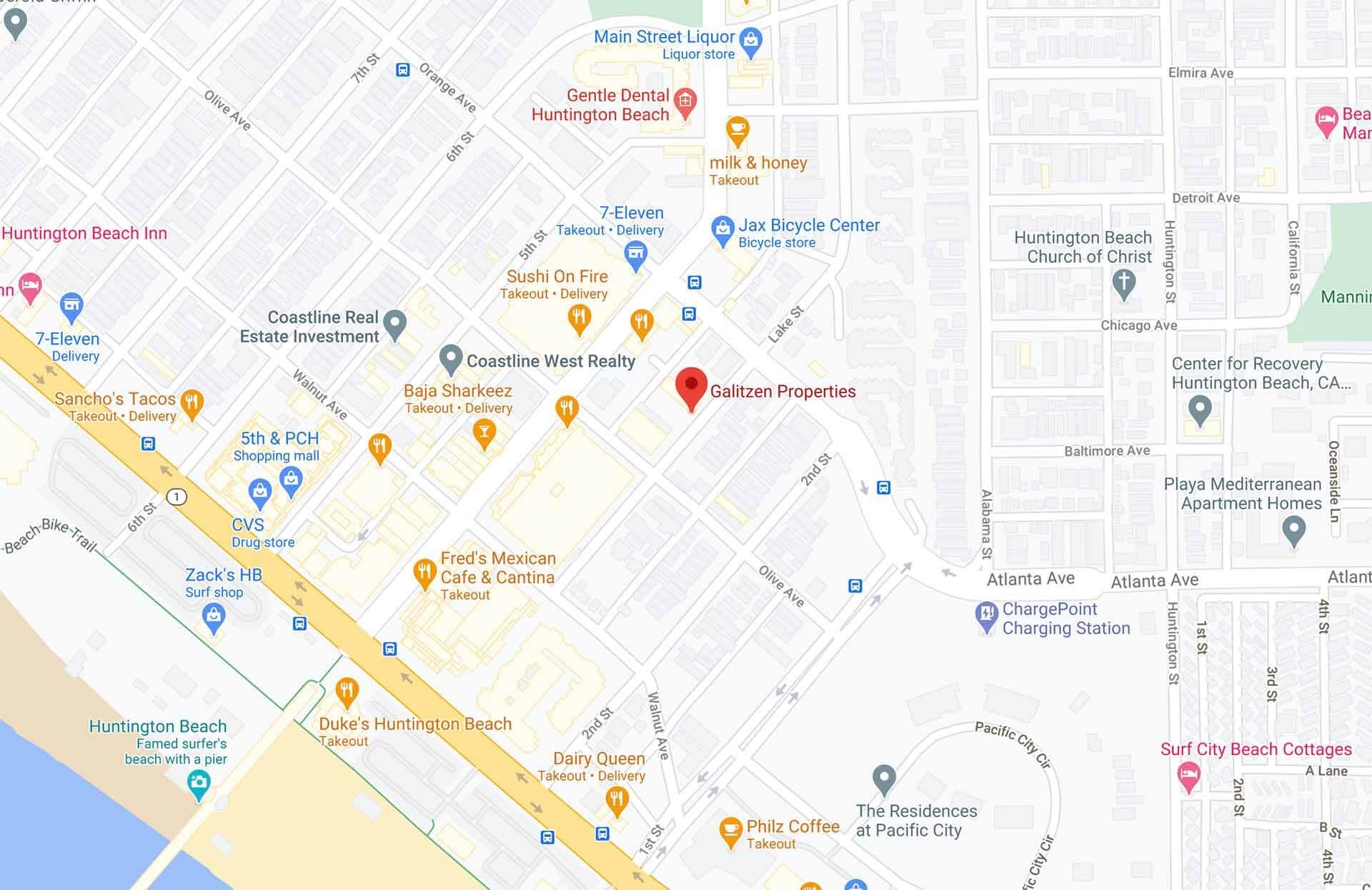 Map Galitzen Properties Office
